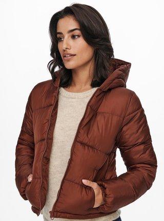 Hnědá prošívaná zimní bunda Jacqueline de Yong Davine