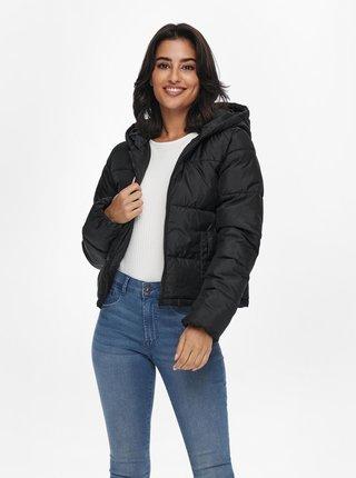 Černá prošívaná zimní bunda Jacqueline de Yong Davine