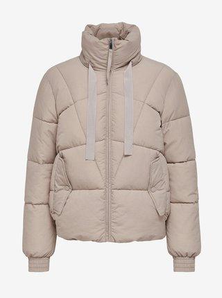 Béžová prešívaná zimná bunda Jacqueline de Yong Dakota