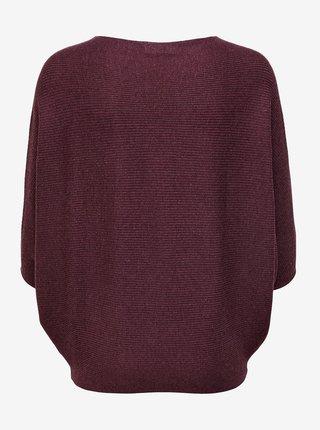Vínový voľný sveter Jacqueline de Yong New behave