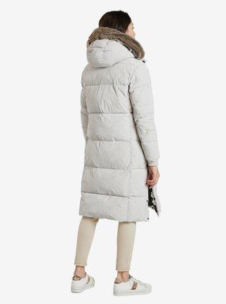 Svetlošedý dámsky zimný kabát Desigual Antartica