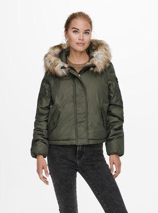 Khaki zimní bunda ONLY Misty