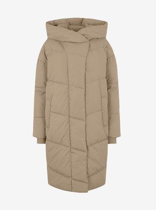 Béžový prešívaný zimný kabát Noisy May Tally