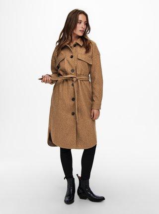 Hnědý lehký kabát ONLY Victoria