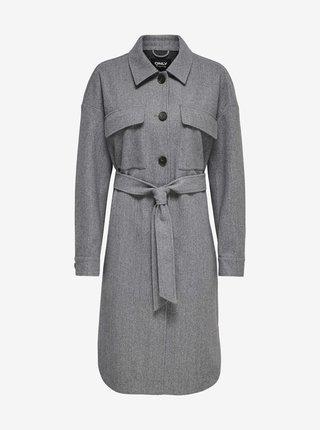 Šedý lehký kabát ONLY Victoria