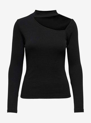 Černé tričko se stojáčkem ONLY Nessa