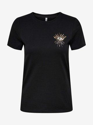 Tričká s krátkym rukávom pre ženy ONLY - čierna