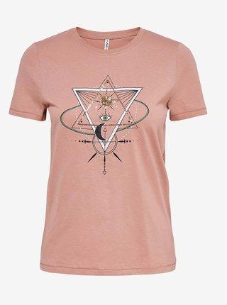 Růžové tričko ONLY Kita