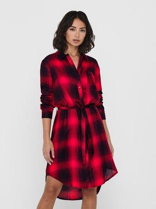 Šaty na denné nosenie pre ženy ONLY - červená, čierna