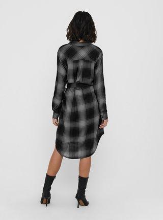 Šaty na denné nosenie pre ženy ONLY - sivá, čierna