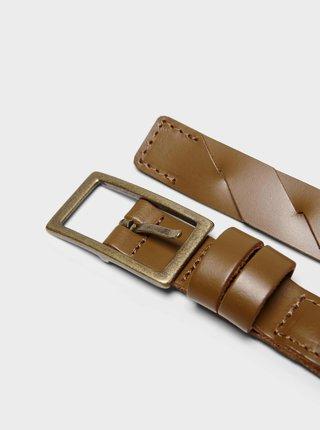 Hnědý kožený pásek ONLY Beat