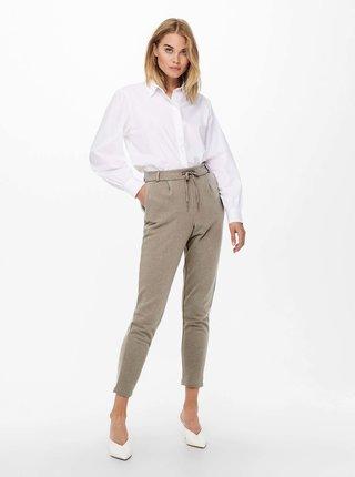 Béžové zkrácené kalhoty ONLY Popsweat