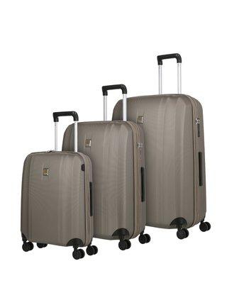 Sada cestovních kufrů Titan Xenon 4w S USB,M,L Champagne