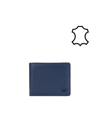 Tmavě modrá pánská malá kožená peněženka VUCH Chucky
