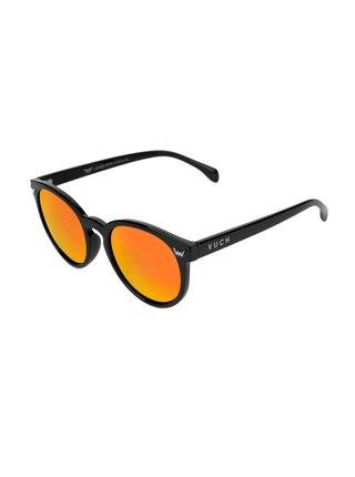 Oranžovo-černé dámské sluneční brýle VUCH Checkie