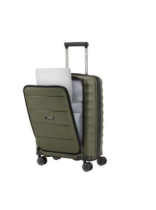 Cestovní kufr Titan Highlight 4w S Front pocket Khaki