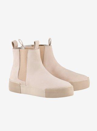 Světle růžové dámské semišové kotníkové boty Högl Uptown