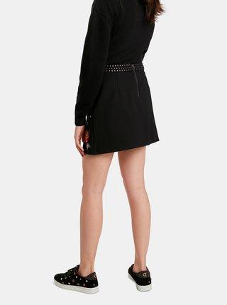 Čierna kvetovaná sukňa Desigual Inaya