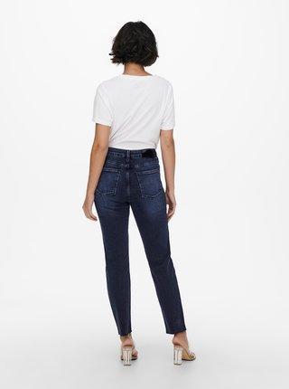 Tmavě modré straight fit džíny ONLY Emily
