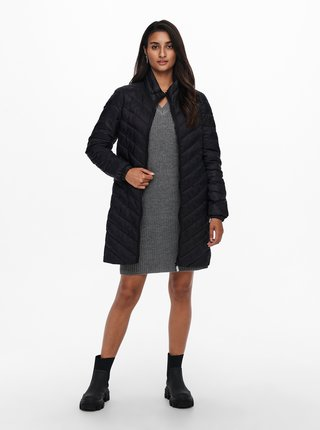 Černý zimní prošívaný kabát ONLY New Tahoe