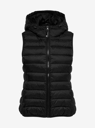 Černá prošívaná vesta s kapucí ONLY New Tahoe