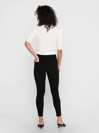 Černé zkrácené skinny fit kalhoty ONLY Nanna