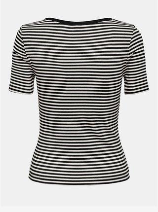 Bílo-černé pruhované tričko ONLY Josse