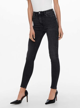 Černé skinny fit džíny ONLY Mila