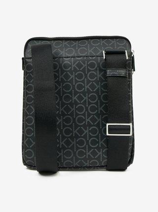 Čierna pánska vzorovaná crossbody taška Calvin Klein