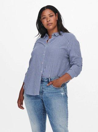 Bílo-modrá pruhovaná košile ONLY CARMAKOMA Tasima