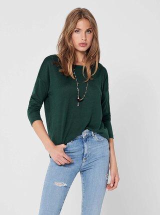 Tmavozelený ľahký sveter ONLY Elcos