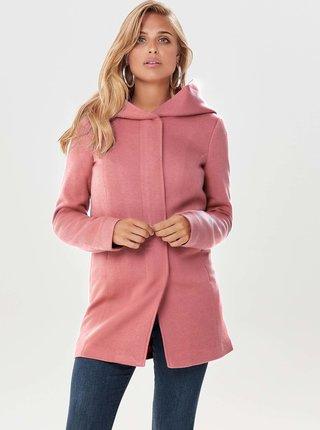 Růžový kabát ONLY Sedona