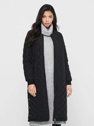 Čierny prešívaný kabát ONLY Jessica