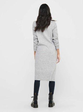 Světle šedé svetrové šaty ONLY Brandie