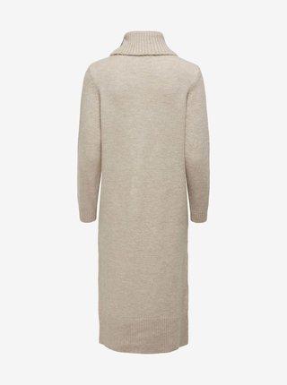 Béžové svetrové šaty ONLY Brandie