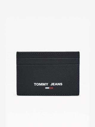 Černé pánské kožené pouzdro na karty Tommy Hilfiger