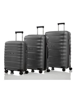 Sada cestovních kufrů Titan Highlight 4w S,M,L Anthracite – sada 3 kufrů