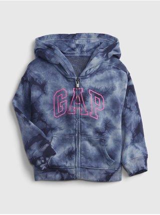 Modrá holčičí mikina GAP Logo tie-dye hoodie GAP