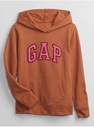 Hnědá dámská mikina s kapucí GAP Logo
