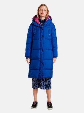 Modrý dámský prošívaný zimní kabát Desigual Corea