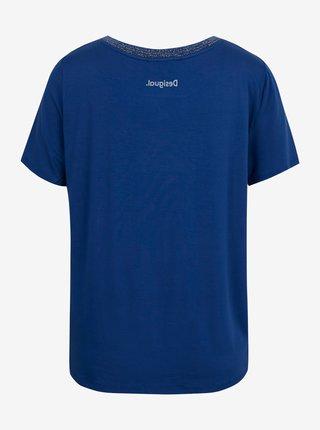 Desigual modré tričko TS Pals