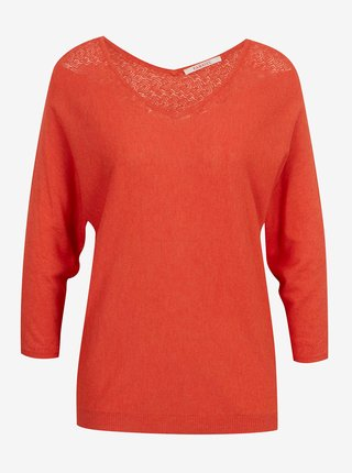 Tmavomodrý ľahký sveter s ozdobnými detailmi CAMAIEU