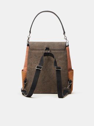 Šedý dámsky vzorovaný farebný batoh Desigual Mona Positano