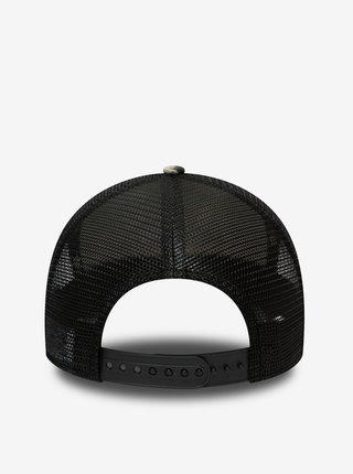 Šedo-černá pánská vzorovaná kšiltovka New Era