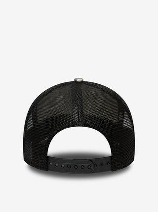 Černo-šedá pánská vzorovaná  kšiltovka New Era