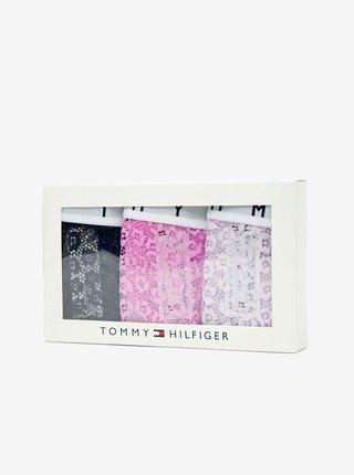 Tommy Hilfiger farebný 3 pack priesvitných táng 3P Thong