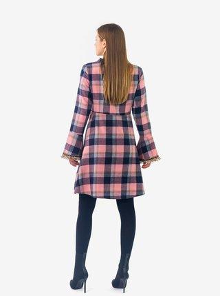 Modro-růžové dámské kostkované šaty Culito from Spain Mayra