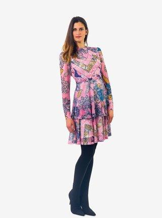 Růžové dámské vzorované šaty Culito from Spain Luz