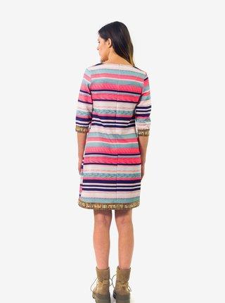 Modro-růžové dámské pruhované šaty Culito from Spain Marina