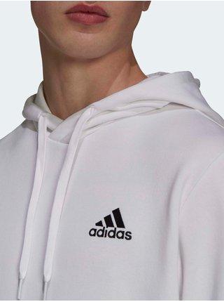 Mikiny s kapucou pre mužov adidas Performance - biela